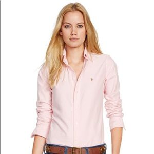 EUC Ralph Lauren Button Down Light Pink Size 6